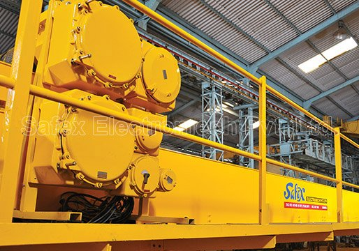 Safex Flame proof Electric overhead travelling cranes