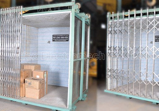 Safex Goods Elevator, Cage hoists