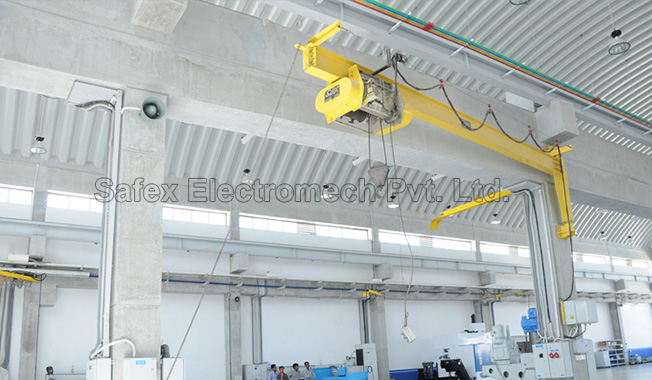 Jib Cranes, Safex Cranes Hoists Manufacturer India, Safex Electromech